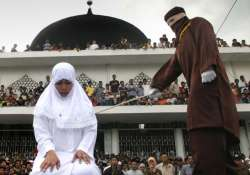 Christian woman whipped under Sharia law in Indonesia