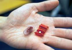 The robot is swallowed in pill form
