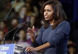 First lady Michelle Obama speaks during a campaign rally