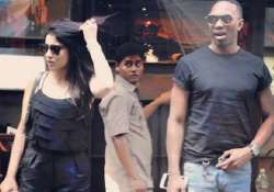 Dwayne Bravo and Shriya Saran