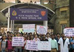 KEM hospital doctors during their strike against the attack
