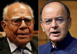 File pic of Ram Jethmalani and Arun Jaitley