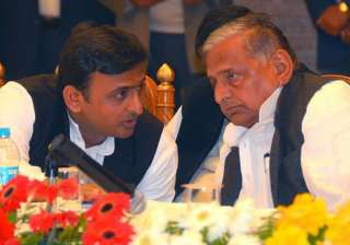 File pic of Akhilesh Yadav and Mulayam Singh...