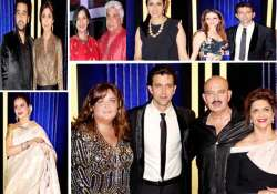amitabh rekha shilpa at rakesh roshan s birthday bash see