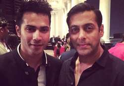 varun dhawan takes no panga with bhai salman khan