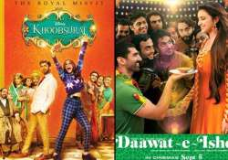 khoobsurat gives tough competition to daawat e ishq