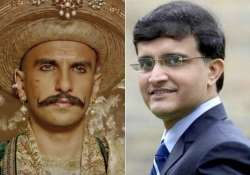 watch video sourav ganguly turns peshwa bajirao for ranveer