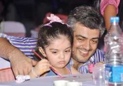 perfect daddy ajith attends daughter s school event