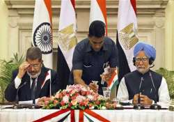 india egypt sign seven pacts pm praises courage of egyptian