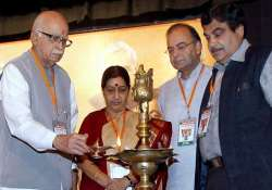 advani sushma skip bjp rally party plays down reports of