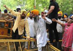 sikh groups protest near parliament