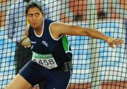 discus thrower krishna poonia joins congress in rajasthan