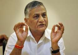 general v k singh takes charge of statistics ministry