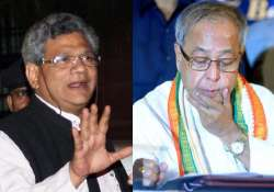support to pranab does not mean support to cong says yechuri