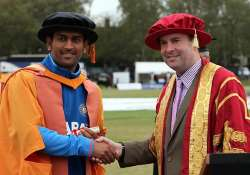 dhoni becomes a doctor