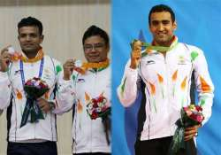 asian games shooters clinch silver sejwal bags swimming