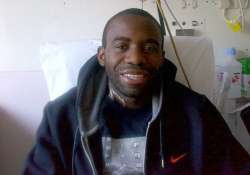 fabrice muamba sits back on bed fortnight after his heart