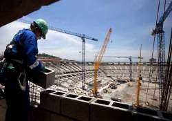 workers go on strike at delayed world cup stadium