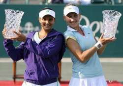 sania vesnina pair lifts 2nd wta title together