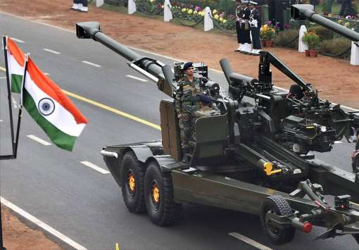 DRDO's Advance Towed Artillery Gun System ATAGS being displayed at Rajpath during the 68th Republic Day Parade in New Delhi