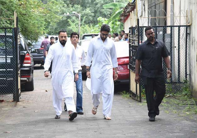 Abhishek Bachchan was also among the list of celebs who paid their last respects to Shilpa's father Surendra Shetty.