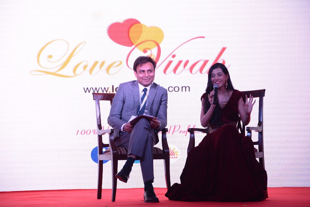 The website -- www.lovevivah.com -- a venture of Tanisha System Inc., was launched on Friday at an event organised in New Delhi. The launch event was enthralled by beautiful Bollywood actress Amrita Rao, who recently married boyfriend RJ Anmol. Image Credit: Nitin Kumar (India TV/nkkl1992@gmail.com)