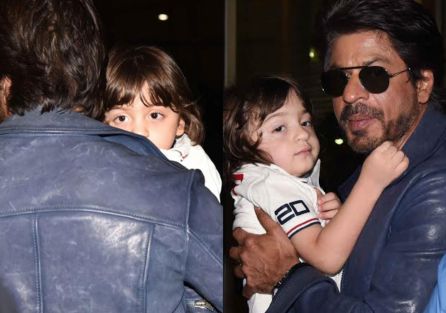 Shah Rukh carried a sleepy AbRam, long enough for paparazzi to catch a glimpse of him. Even in a dizzy and sleepy state, AbRam looked cute proving why he is loved by one and all.