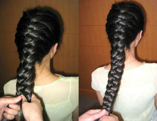 French braid - Begin with using a dry shampoo on your lengths and ends to help create texture. Take a centre parting and braid your hair on both sides using the French braid technique. Continue braiding till you reach the nape area and secure it with rubber bands. Open up the braids a little bit and spray finishing spray for hold.
