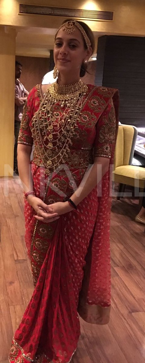 Bride Hazel Keech looks eternal in her Indian avatar.