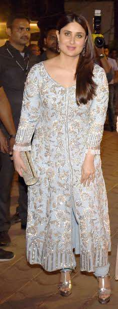 Kareena and Karisma opted for traditional outfit. Kareena was looking drop dead gorgeous in Manish Malhotra dress. It seems that after giving birth to Taimur, the lady is getting back to her shape.