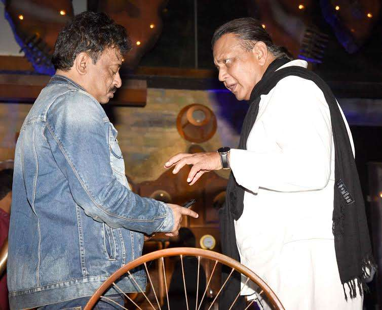 Veteran actor Mithun Chakraborty attended the party and was seen in a deep conversation with Ram Gopal Varma. Mithun donned a casual attire and was looking very comfortable in the director's company.