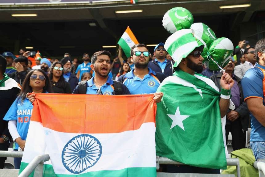 India's first match against their neighbour since the 2015 World Cup in which the Indian team won by 76 runs.