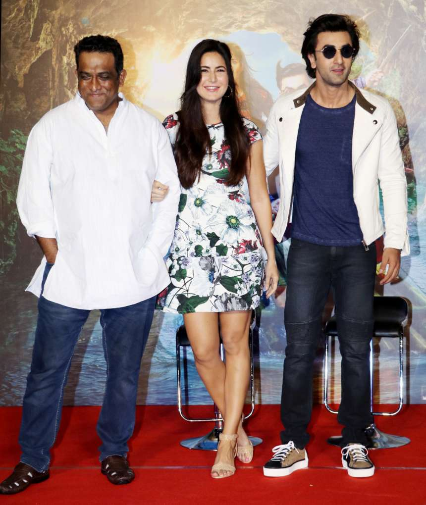 Anurag Basu the director of the film was also present there to accompany both the stars at the launch party.