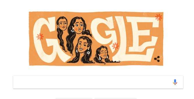 On the occasion of her birth anniversary, Google is paying their tribute to the veteran actress with an innovative Google Doodle. Omitting the two O's of the Google, it shows the actress Nutan expressing different emotions in the form of letter O.