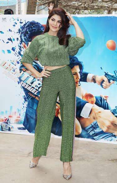 Recently, the lead pair was spotted at a promotional event for the film in Mumbai. Jacqueline made a stubbing appearance in a green attire