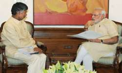Andhra Pradesh Chief Minister Chandrababu Naidu and PM