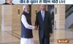 PM Narendra Modi meets Chinese president Xi Jinping in