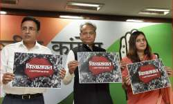 Congress releases poster titled 'Vishwasghaat'