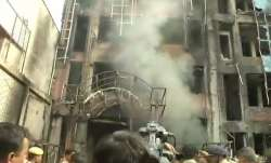 Fire broke out in Charbagh's SSJ International hotel, in