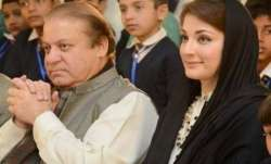 Nawaz Sharif with daughter Maryam Nawaz.