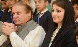 Nawaz Sharif with daughter Maryam Nawaz.