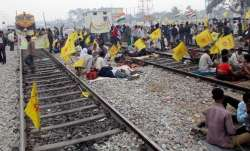 Rail blockade by adivasis in West Bengal