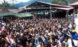 Sabarimala: Devotees protest as several female devotee