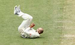 Nathan Lyon catches Ishant Sharma off his own delivery