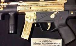 This gold-plated submachine gun is Pakistan's gift to