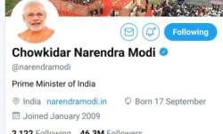 Twitter Account of PM Modi