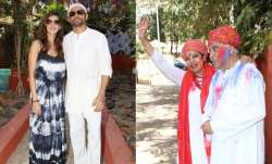 On the occasion of Holi, Shabana Azmi and Javed Akhtar held