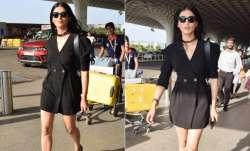 South Indian actress Shruti Haasan was spotted at Mumbai