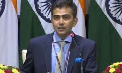 External affairs ministry spokesperson Raveesh Kumar