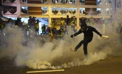 China lashes out at Hong Kong protest targeting its office